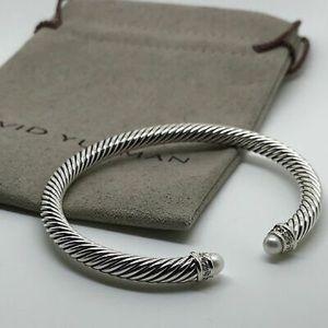 David Yurman 5mm Pearls & Diamonds Bracelet